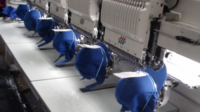 Embroidery machine sewing