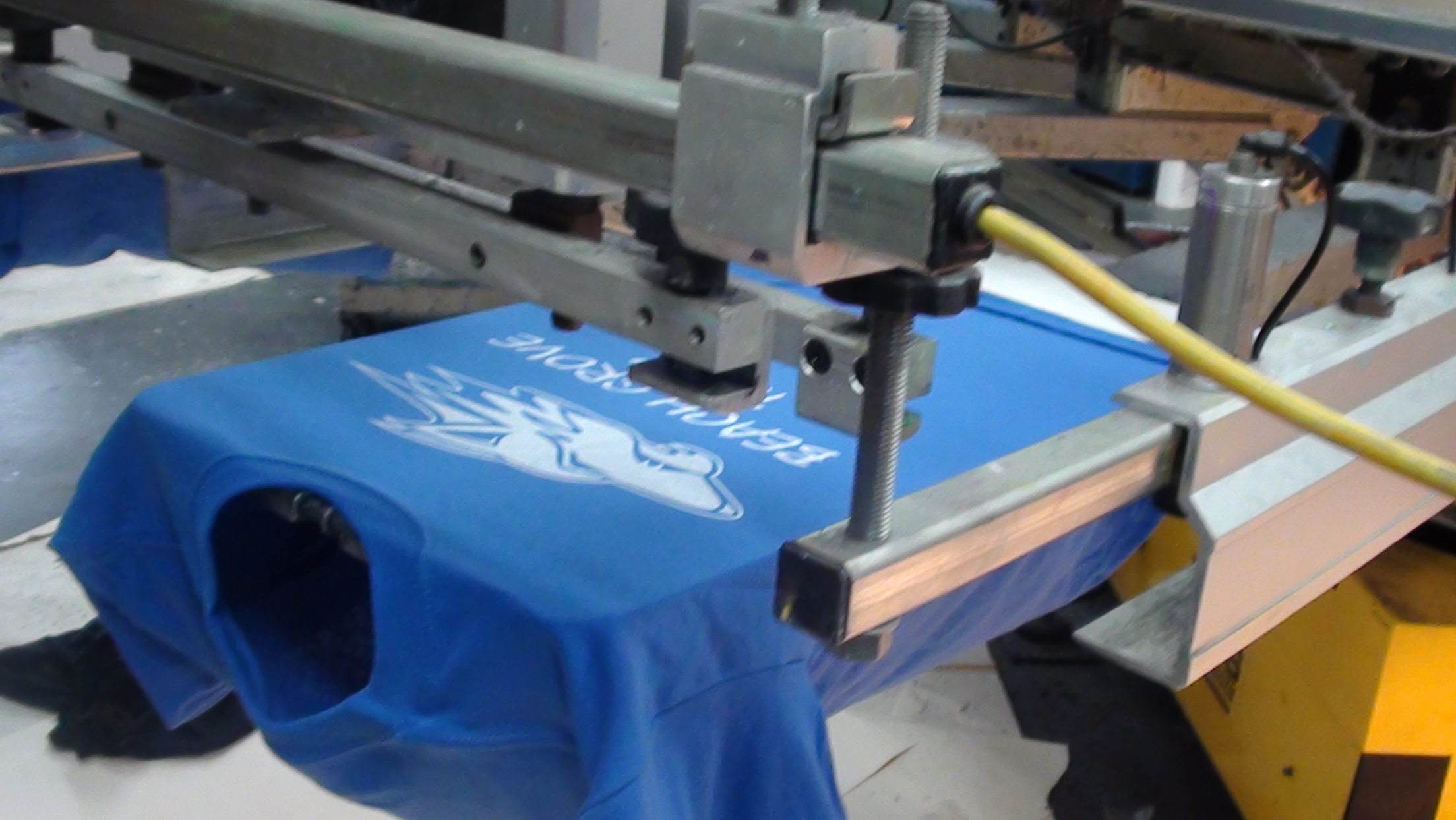 Screen print logo imprinted