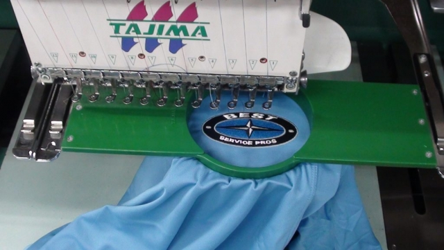 Best service pros embroidery logo