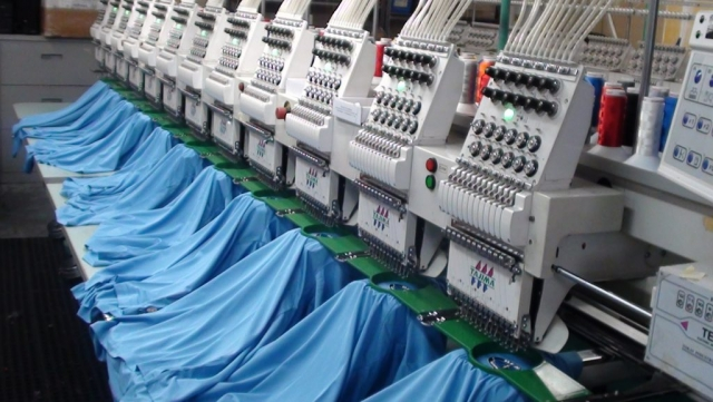 Embroidery production making Best service pros logo
