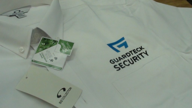 Embroidered Guardteck Security polo shirt