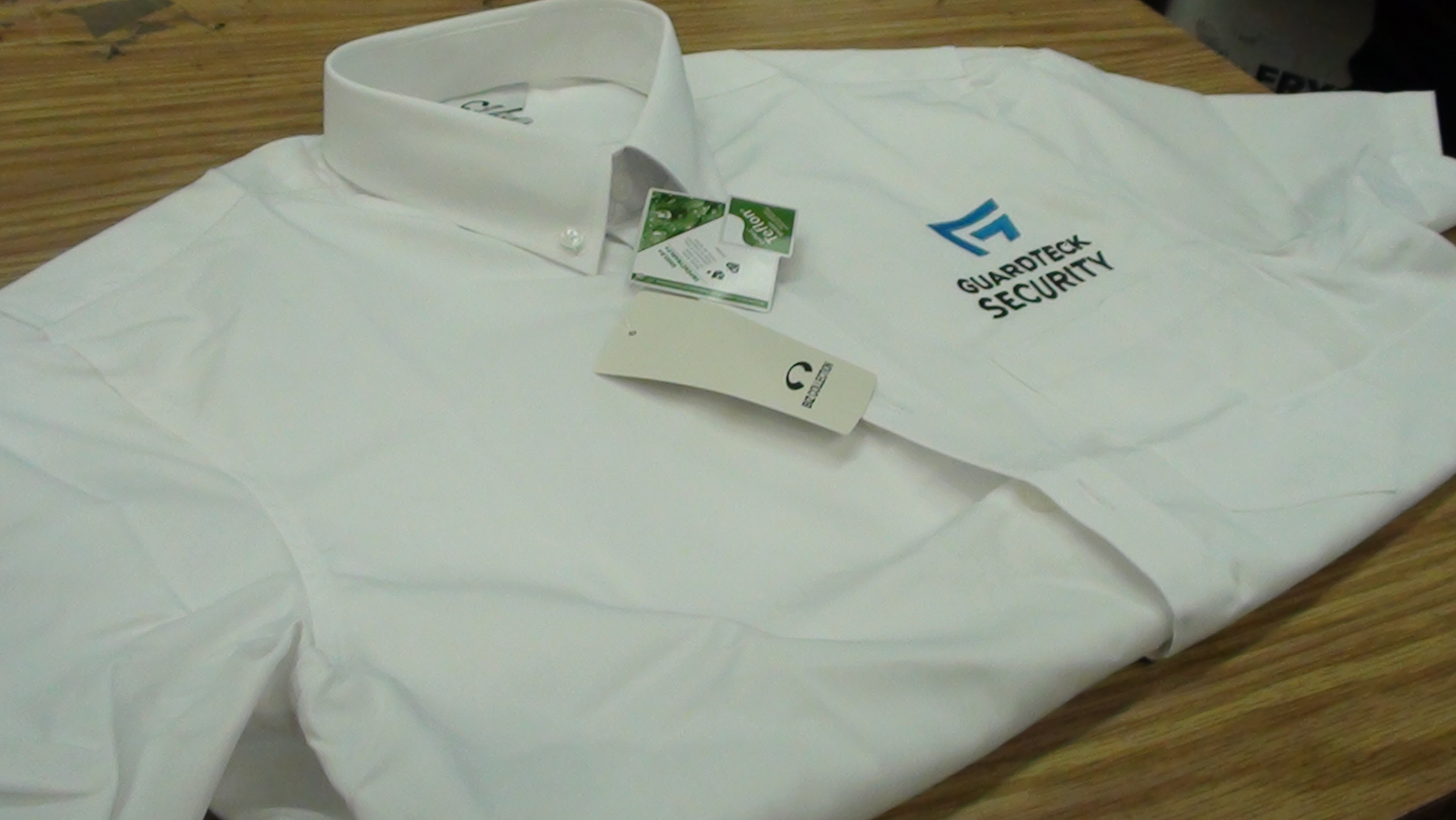Guardteck Security embroidery shirts